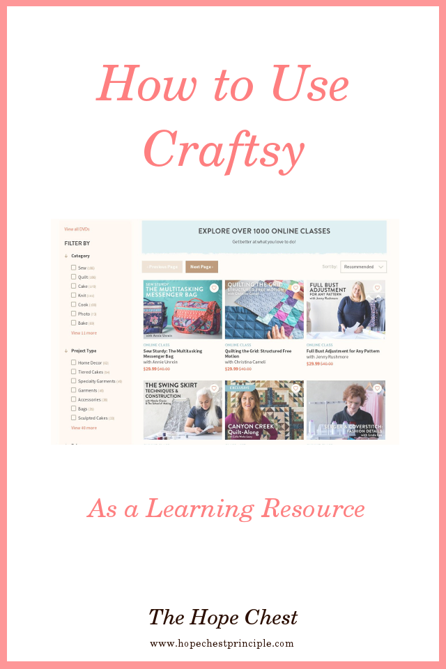 How to Use Craftsy As a Learning Resource